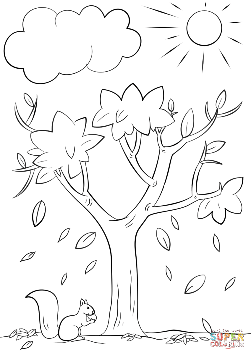 tree to color autumn tree coloring page free printable coloring pages tree color to