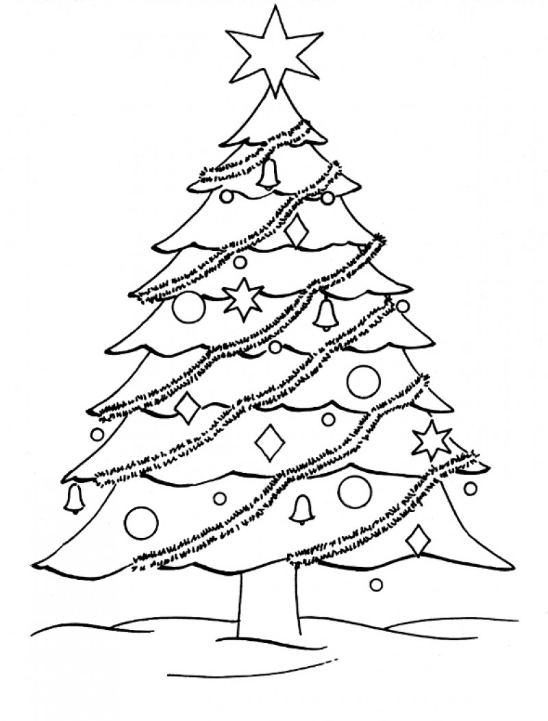tree to color christmas tree coloring page wallpapers9 to color tree