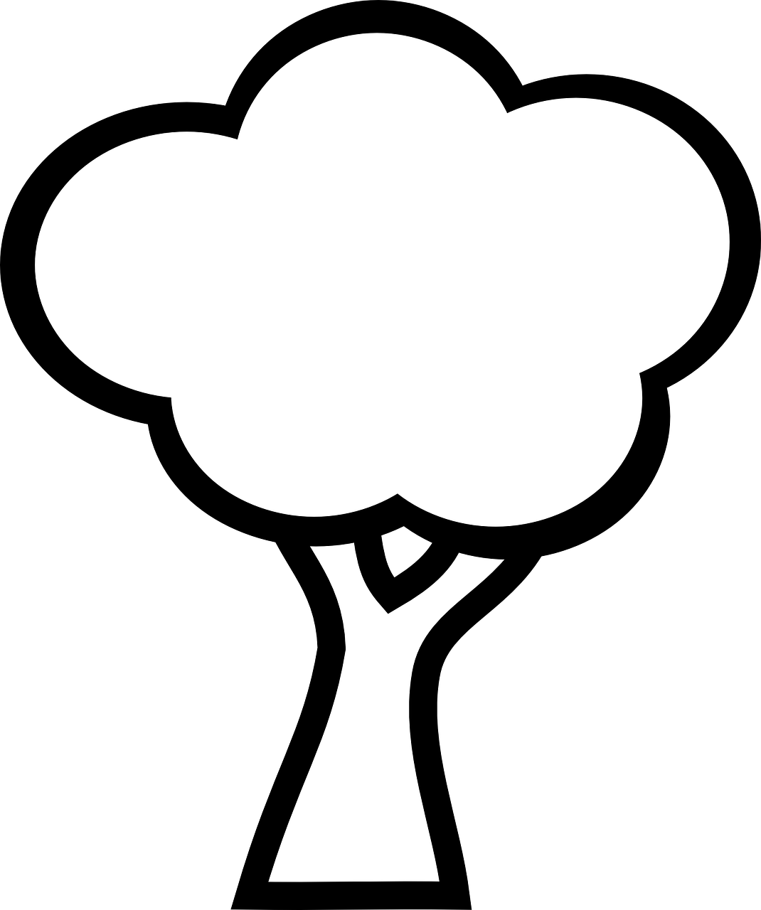 tree to color free printable tree coloring pages for kids 14 pics how color tree to