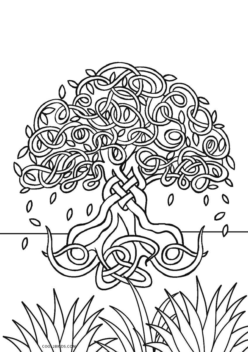 tree to color free printable tree coloring pages for kids cool2bkids to tree color 1 1