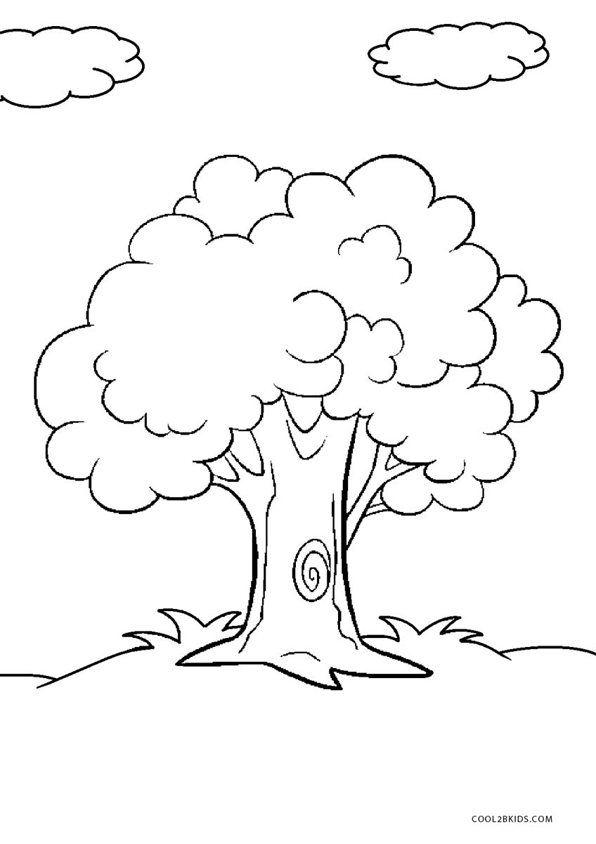tree to color free printable tree coloring pages for kids to tree color