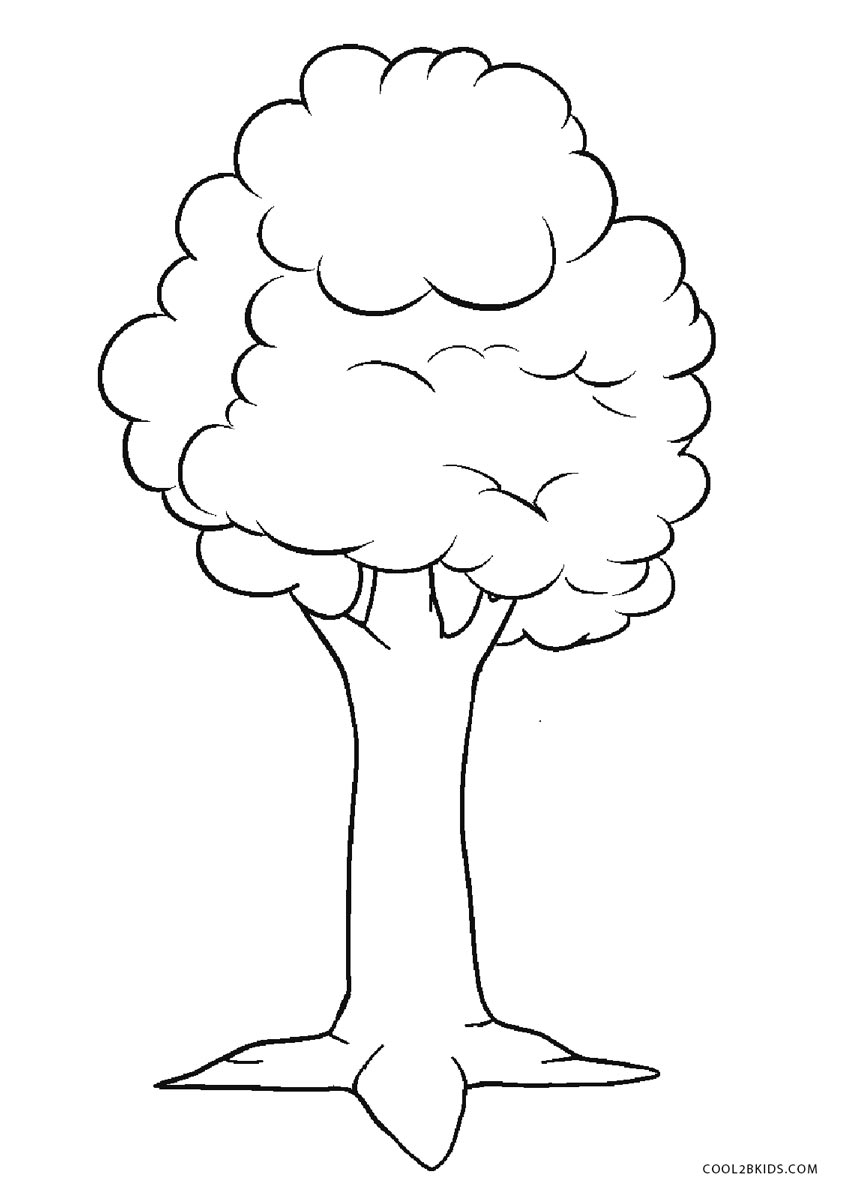 tree to color free printable tree coloring pages for kids to tree color 1 1