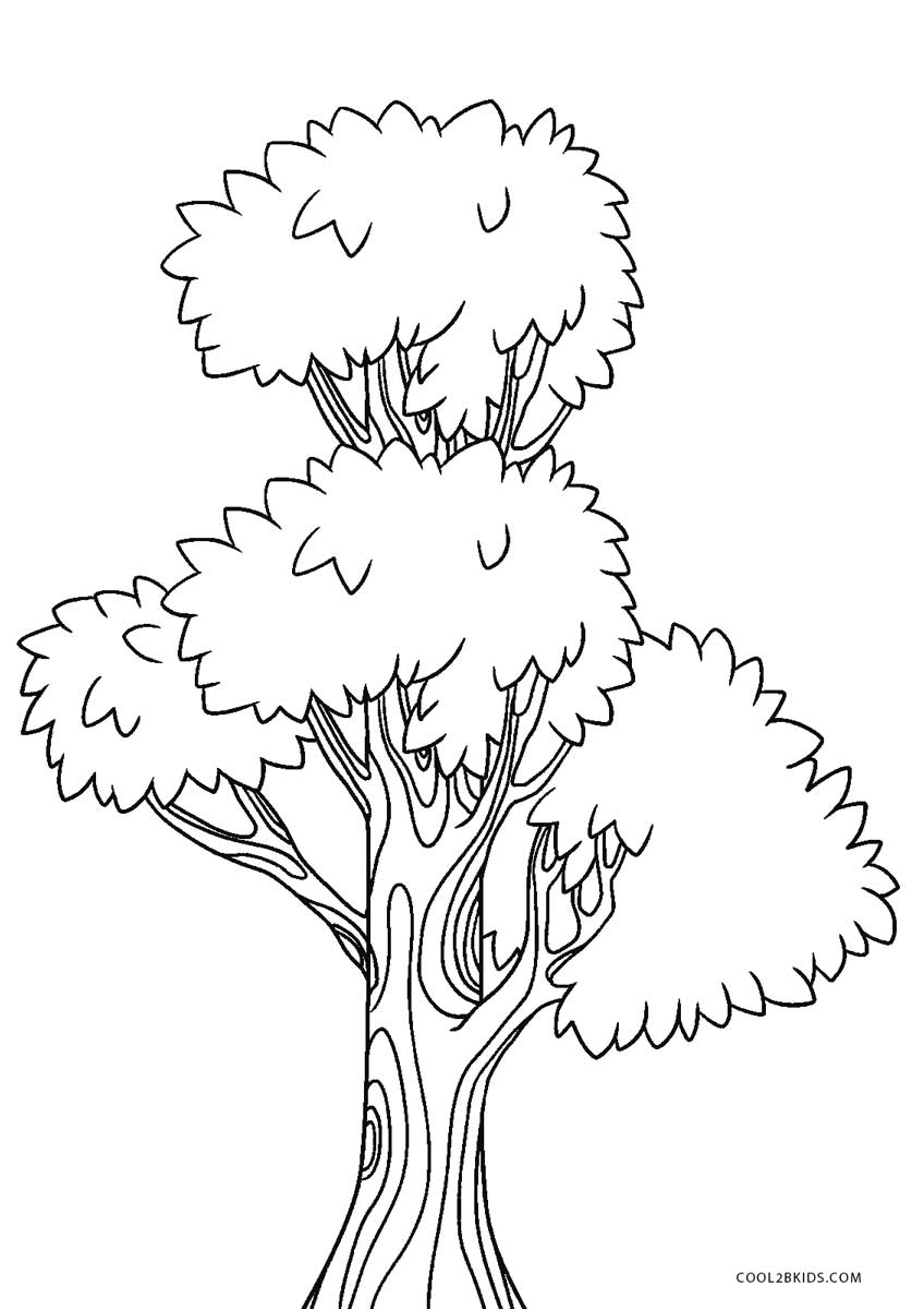 tree to color free printable tree coloring pages for kids tree to color