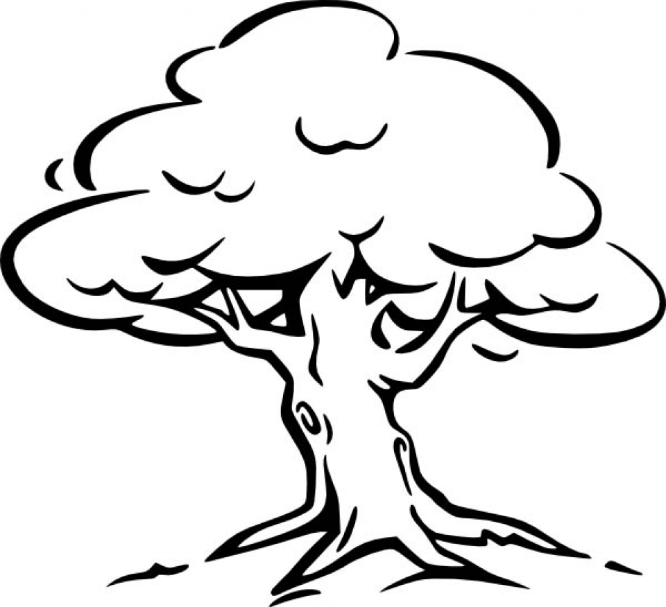 tree to color get this simple tree coloring pages to print for to color tree