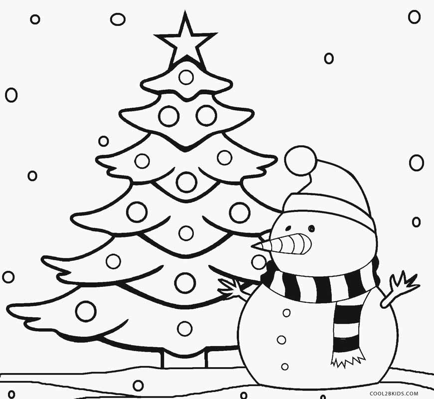 tree to color printable christmas tree coloring pages for kids cool2bkids tree color to