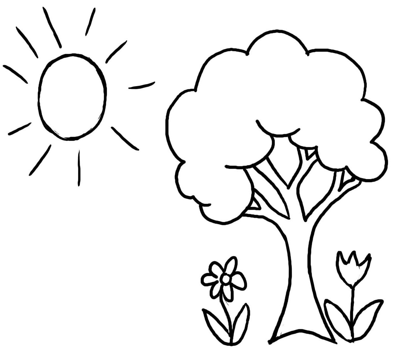 tree to color tree coloring pages tree color to