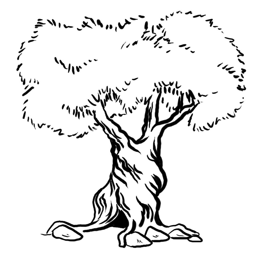 tree to color tree trunkcoloring page coloring home color to tree