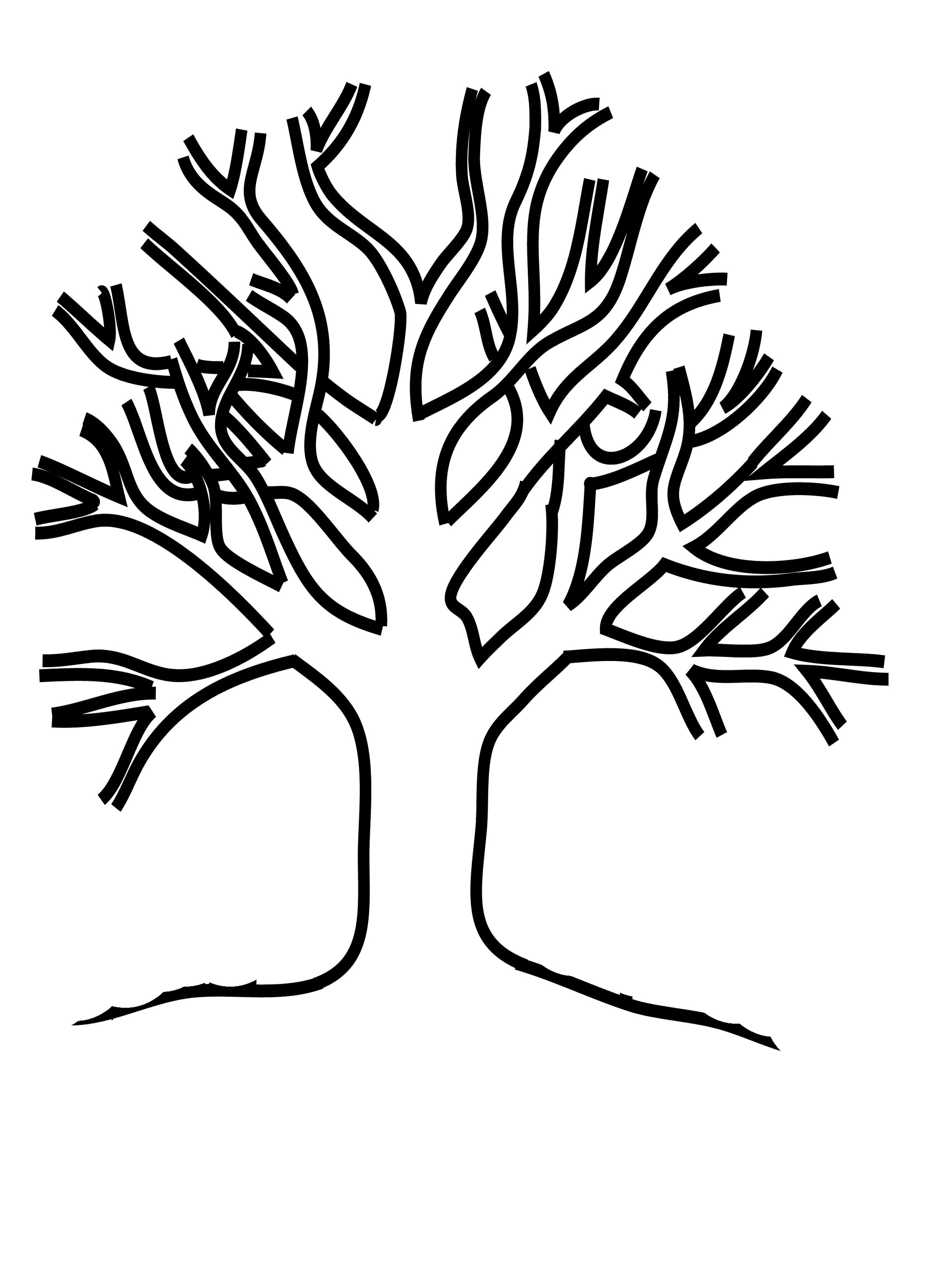 tree to color tree without leaves coloring page to print and download color to tree