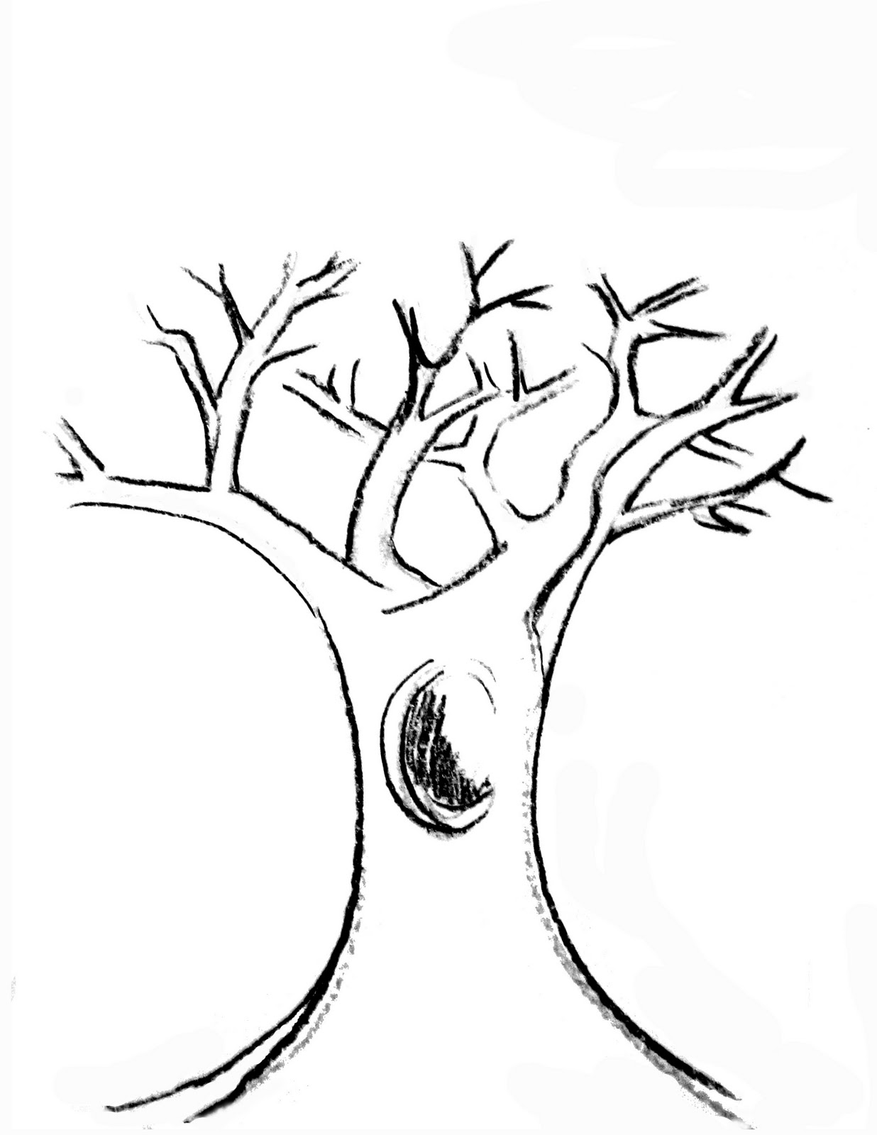 tree trunk coloring page lilac lavender kids autumn printables coloring trunk tree page
