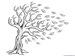 tree with leaves coloring pages fall leaves and trees coloring printables 1111 leaves with pages tree coloring