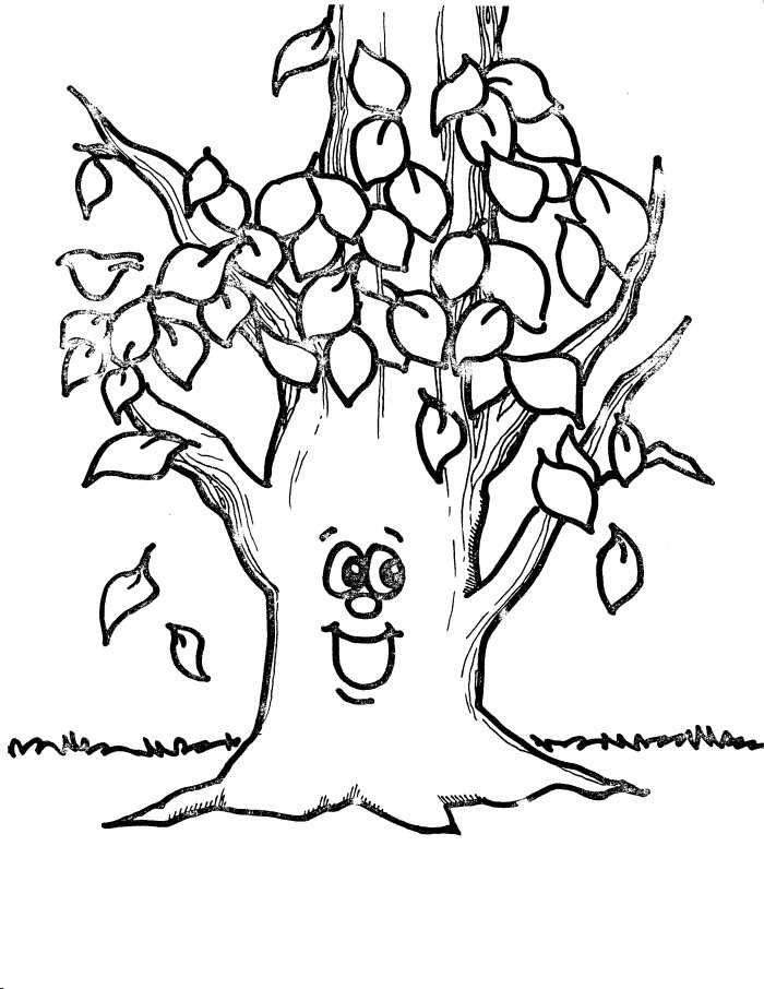 tree with leaves coloring pages free printable tree coloring pages for kids cool2bkids with pages leaves tree coloring