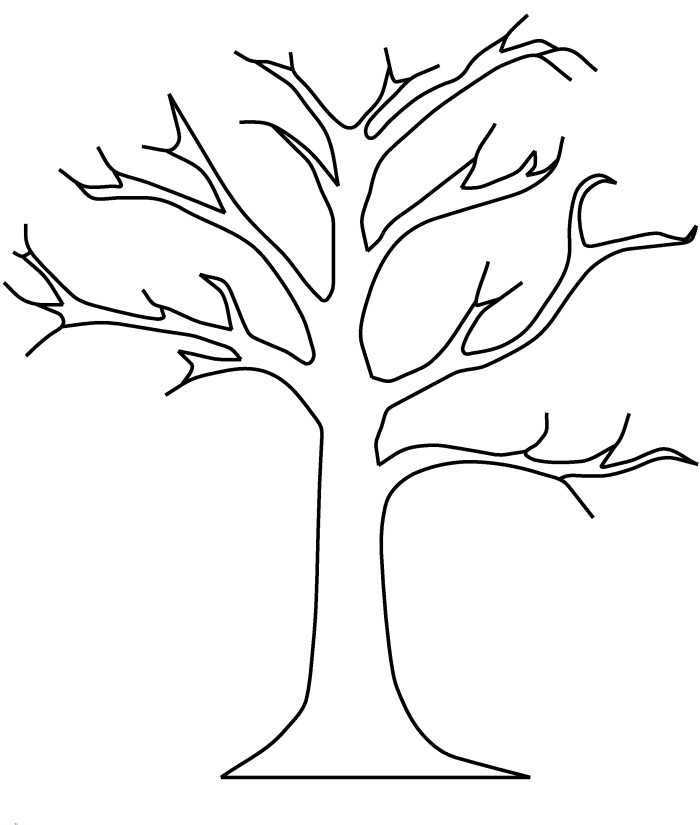 tree with leaves coloring pages tree without leaves coloring page to print and download leaves with tree coloring pages