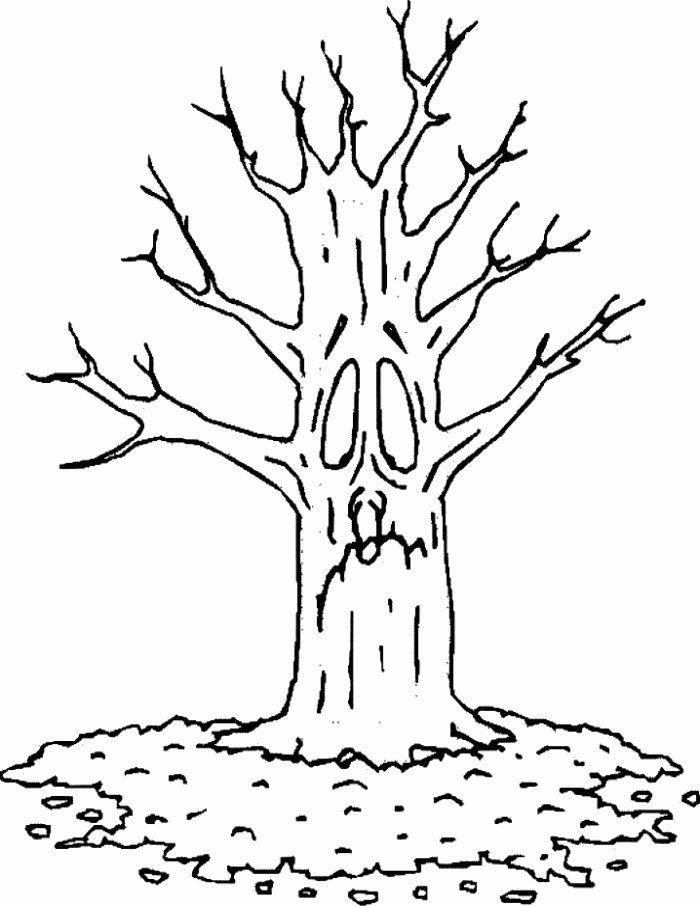 tree with leaves coloring pages tree without leaves coloring page to print and download with pages coloring tree leaves
