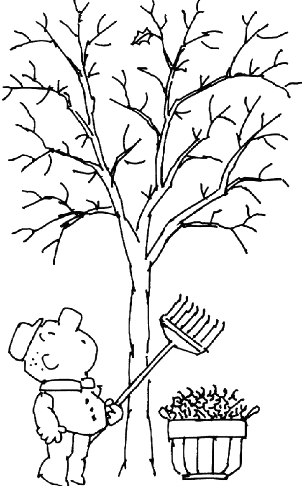 tree with leaves coloring pages tree without leaves coloring page to print and download with pages tree coloring leaves