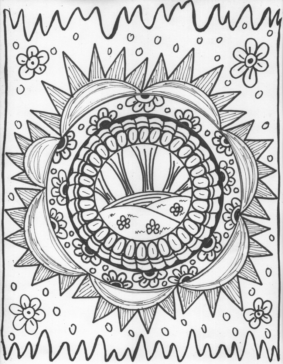trippy coloring page psychedelic coloring pages for adults coloring page coloring trippy