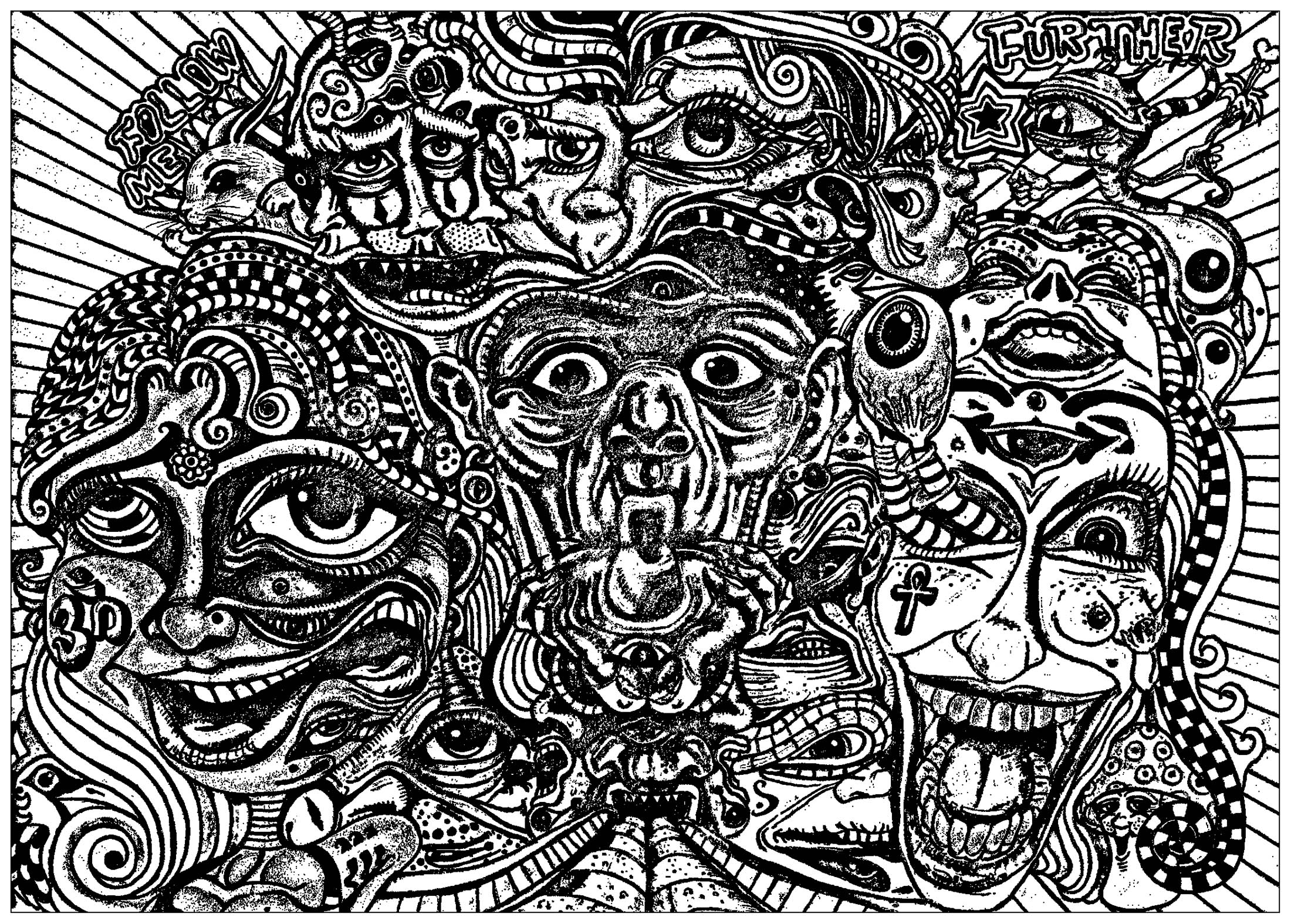 trippy coloring page psychedelic coloring pages to download and print for free coloring page trippy