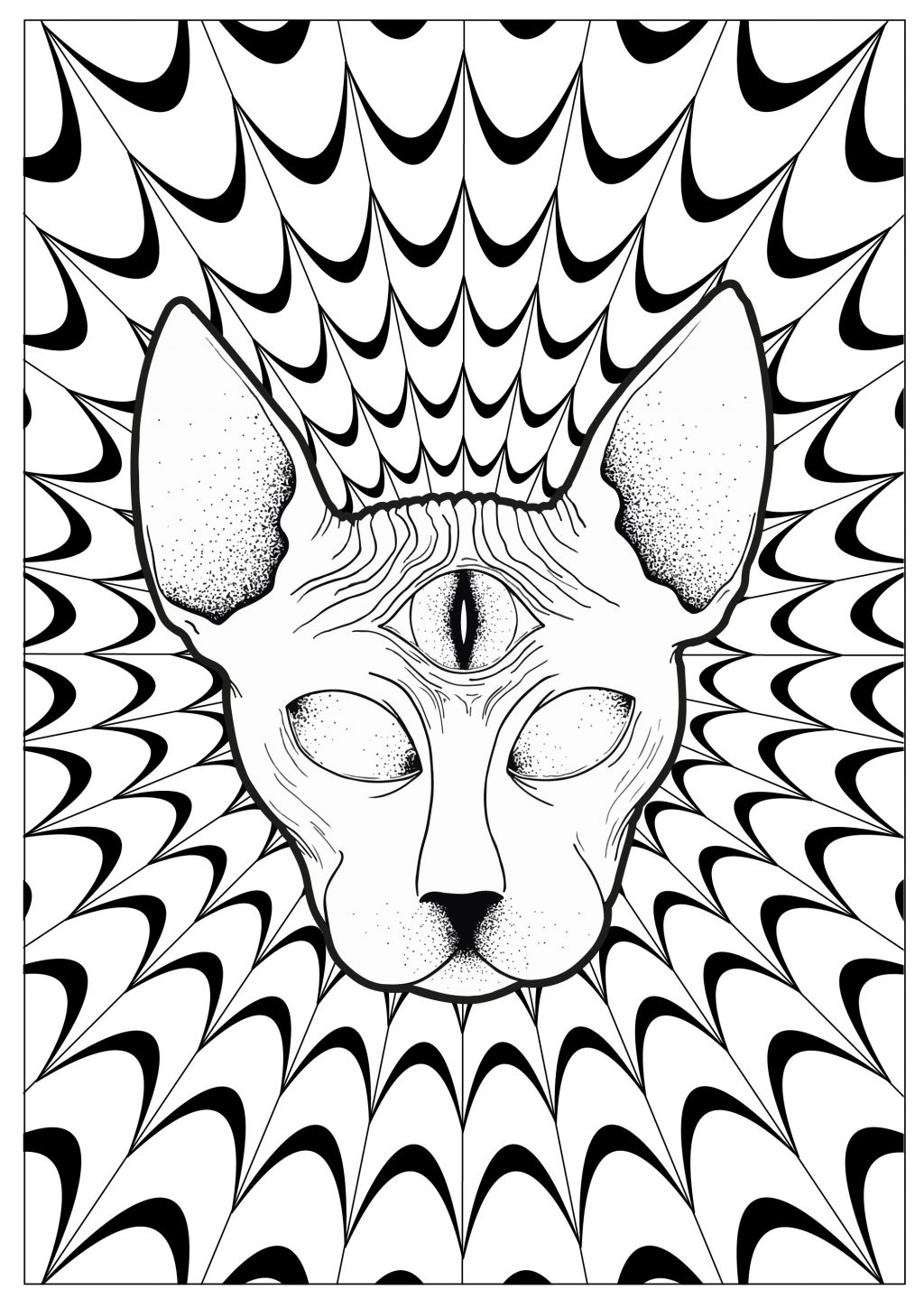 trippy coloring sheets psychedelic pattern coloring page free printable trippy sheets coloring