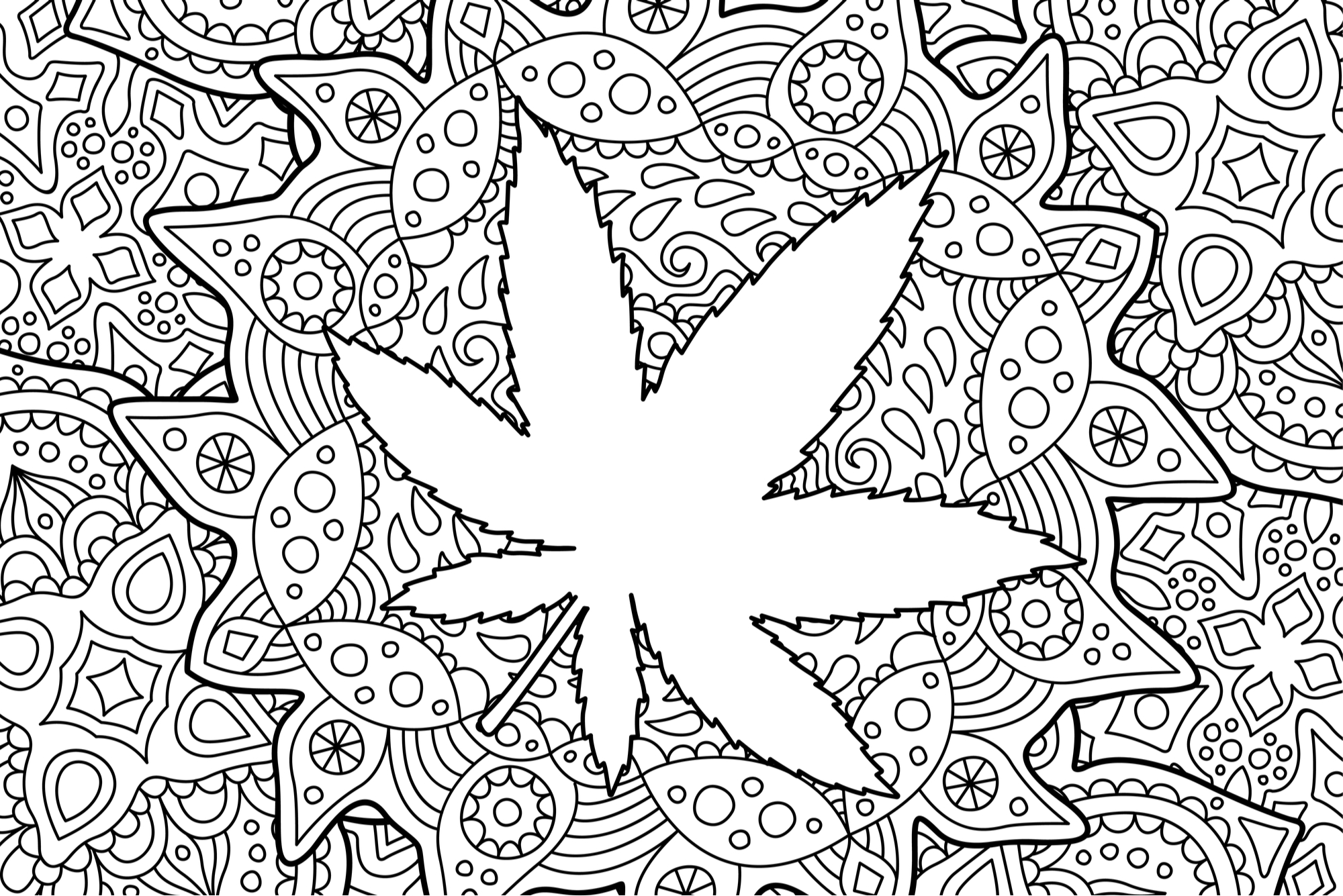 trippy pot leaf coloring pages weed coloring pages trippy drawings tattoo free pot pages trippy leaf coloring