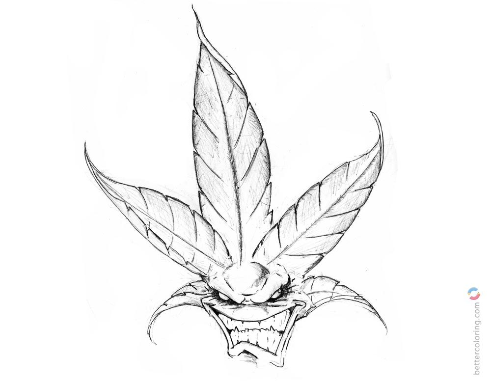 trippy pot leaf coloring pages weed coloring pages weed leaf pencil drawings free pages coloring pot trippy leaf