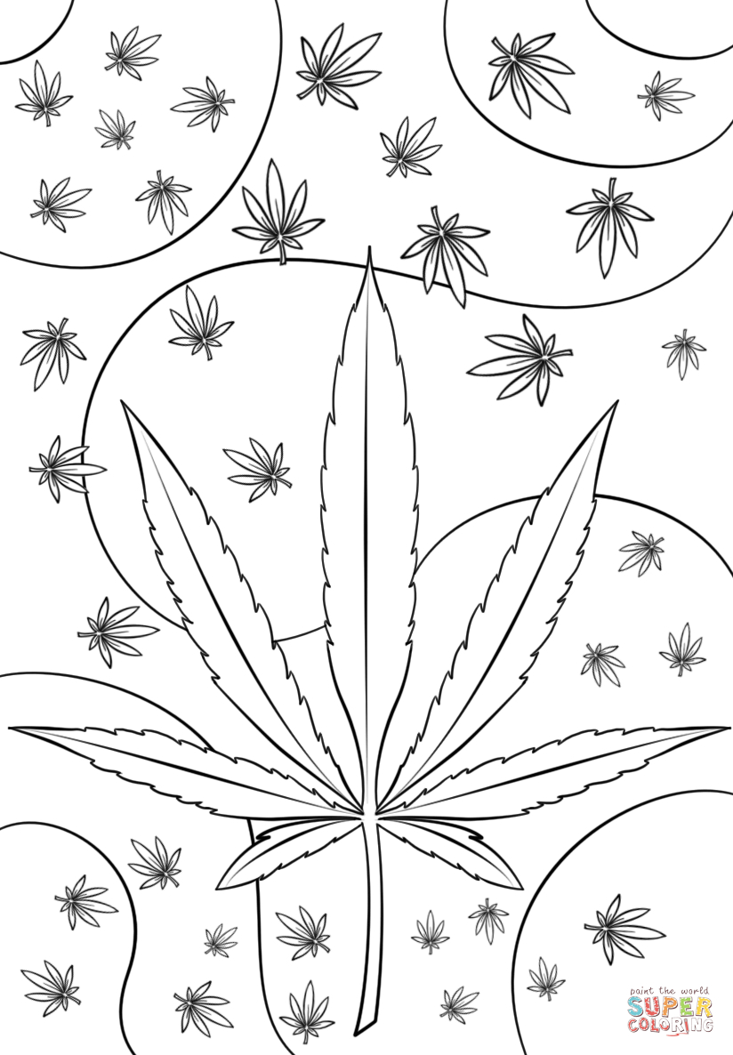 trippy pot leaf coloring pages weed leaf drawing tumblr at getdrawingscom free for pages pot trippy leaf coloring