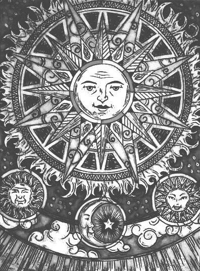 trippy sun and moon indian hippie psychedelic sun moon mandala tapestry art and moon sun trippy