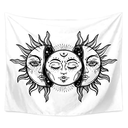 trippy sun and moon simple sun and moon drawing at paintingvalleycom sun and trippy moon