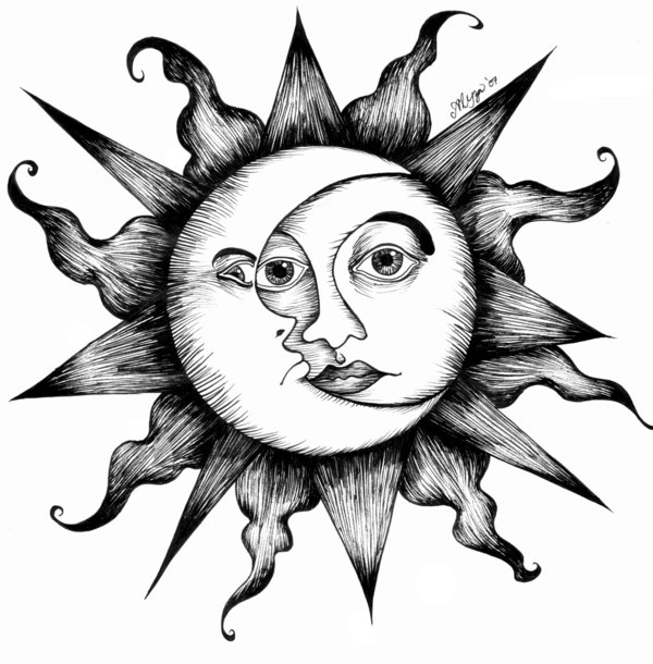 trippy sun and moon sun and moon drawing tumblr at getdrawings free download and moon trippy sun