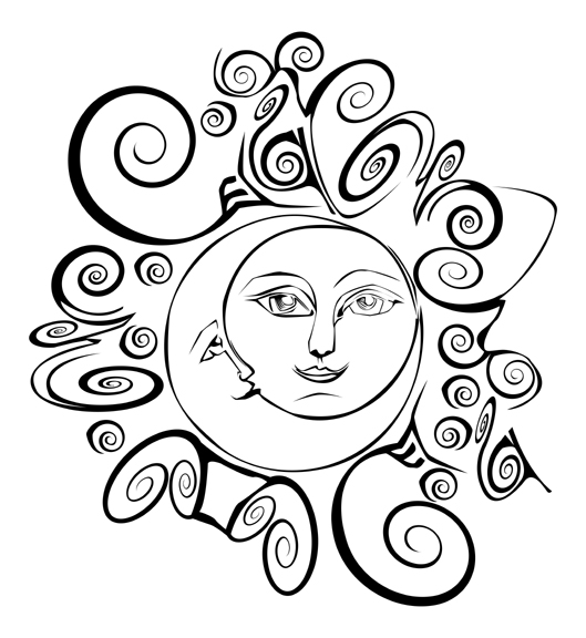 trippy sun and moon trippy sun and moon clipart 20 free cliparts download moon and sun trippy