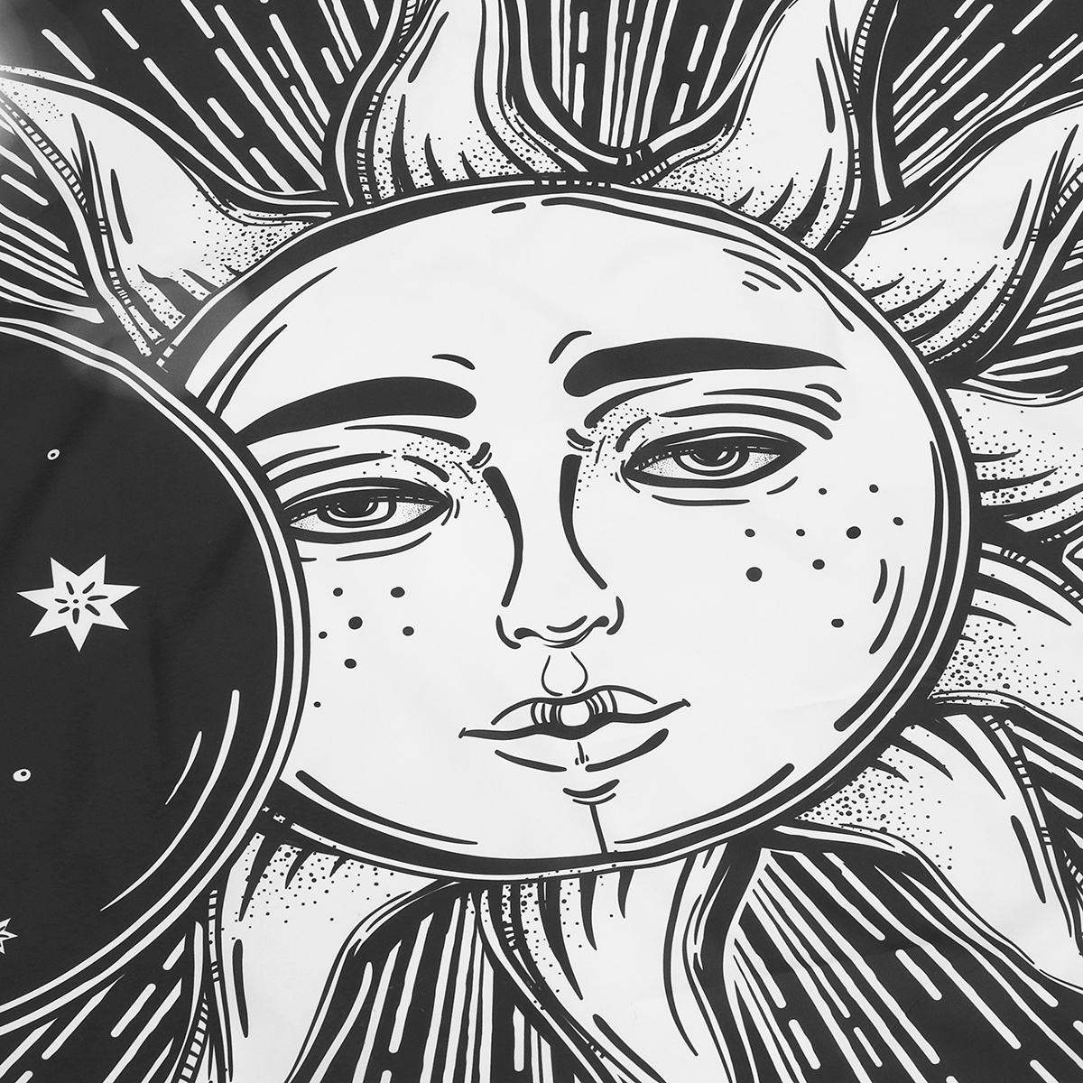 trippy sun and moon trippy sun and moon coloring page free printable sun trippy and moon