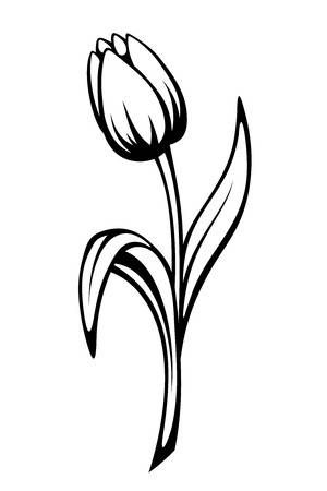 tulip drawing simple how to draw a tulip really easy drawing tutorial simple drawing simple tulip
