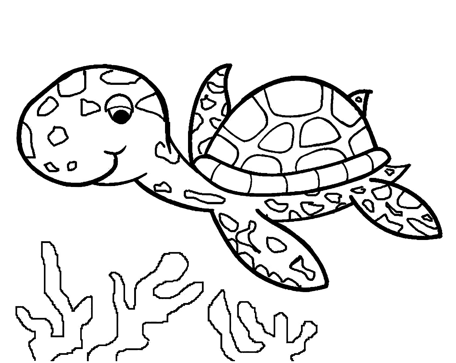 turtle coloring pictures sea turtle line drawing at getdrawings free download coloring turtle pictures