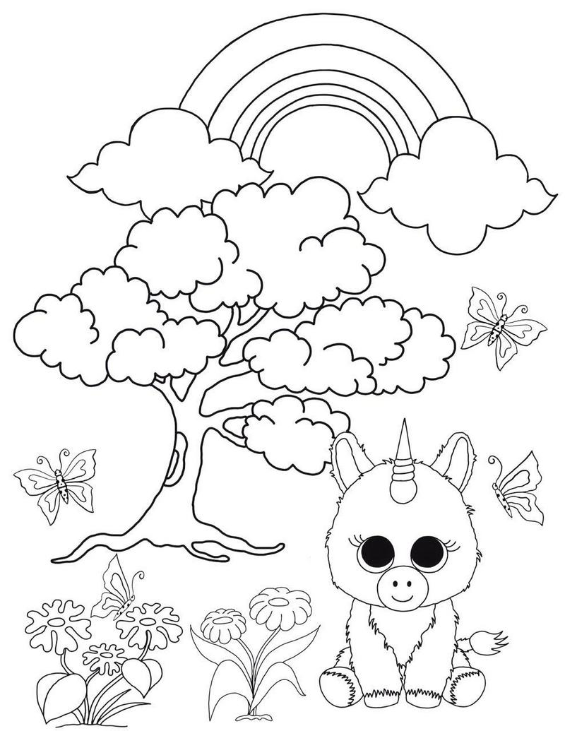 ty unicorn coloring pages pin by dee mccoy on ty beanies unicorn coloring pages unicorn coloring ty pages