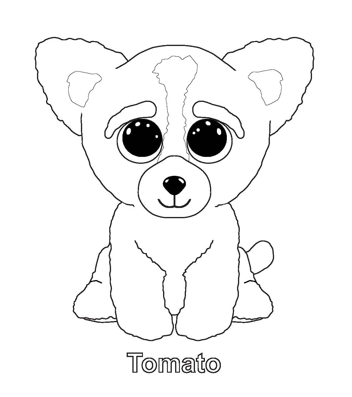 ty unicorn coloring pages tomato pictures of beanie boos dog coloring page pages ty unicorn coloring