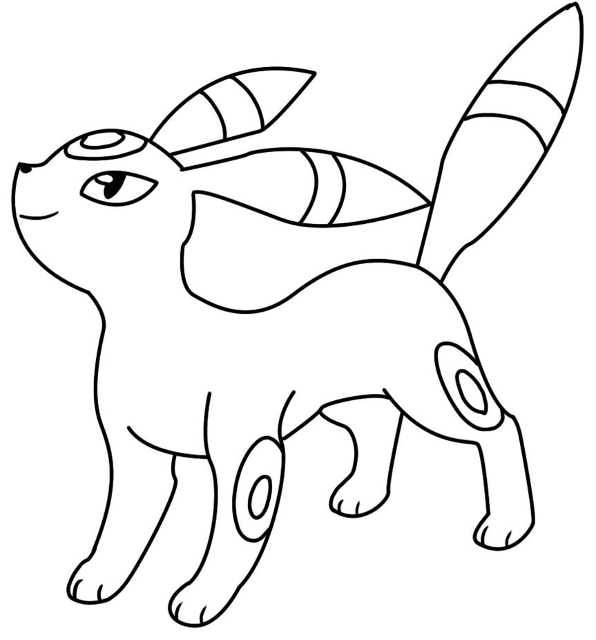 umbreon pokemon coloring pages 197 umbreon lineart by lilly gerbil on deviantart pokemon pages coloring umbreon
