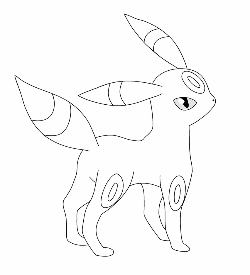 umbreon pokemon coloring pages dreamworld umbreon lineart by bellanoriji on deviantart umbreon pages pokemon coloring