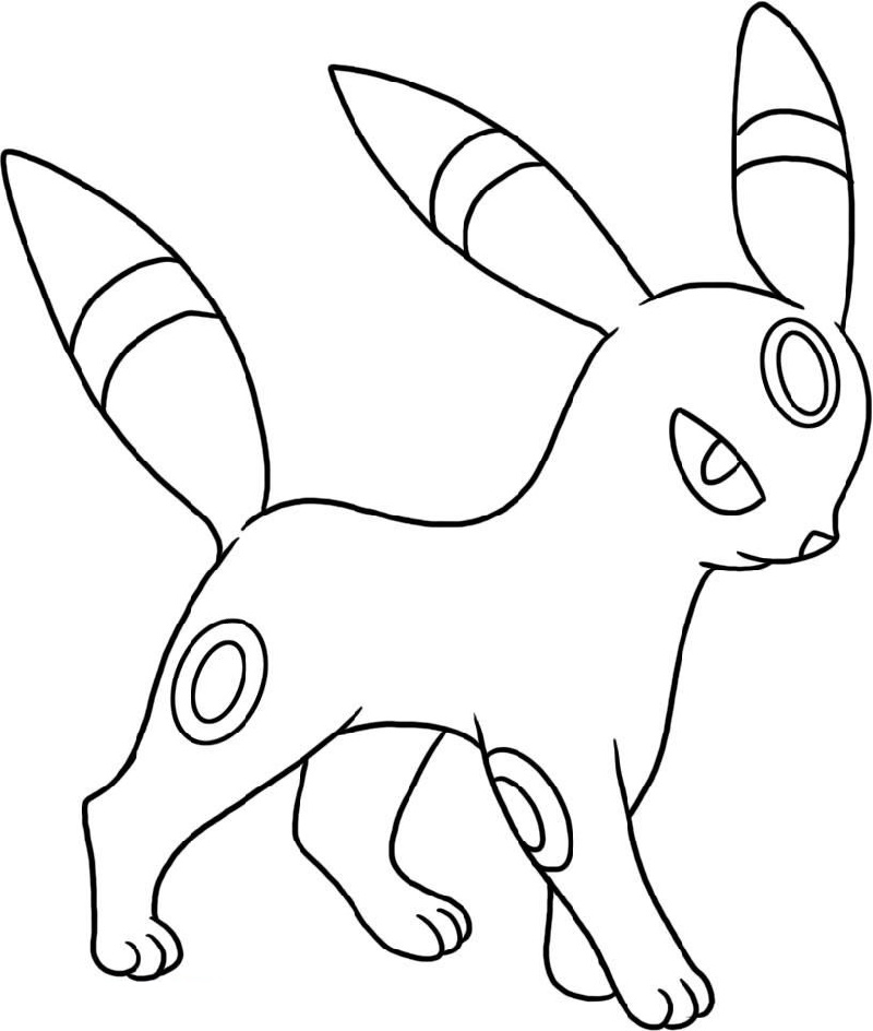 umbreon pokemon coloring pages free downloadable mbreon coloring pages educative printable pages umbreon pokemon coloring