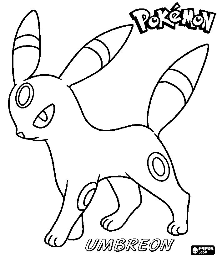 umbreon pokemon coloring pages umbreon coloring pages free printable activity shelter pokemon pages coloring umbreon
