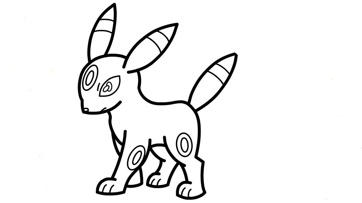 umbreon pokemon coloring pages umbreon coloring pages free printable activity shelter umbreon coloring pokemon pages
