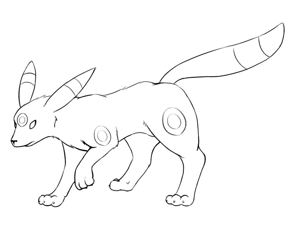 umbreon pokemon coloring pages umbreon lineart by bevynjm on deviantart umbreon coloring pages pokemon