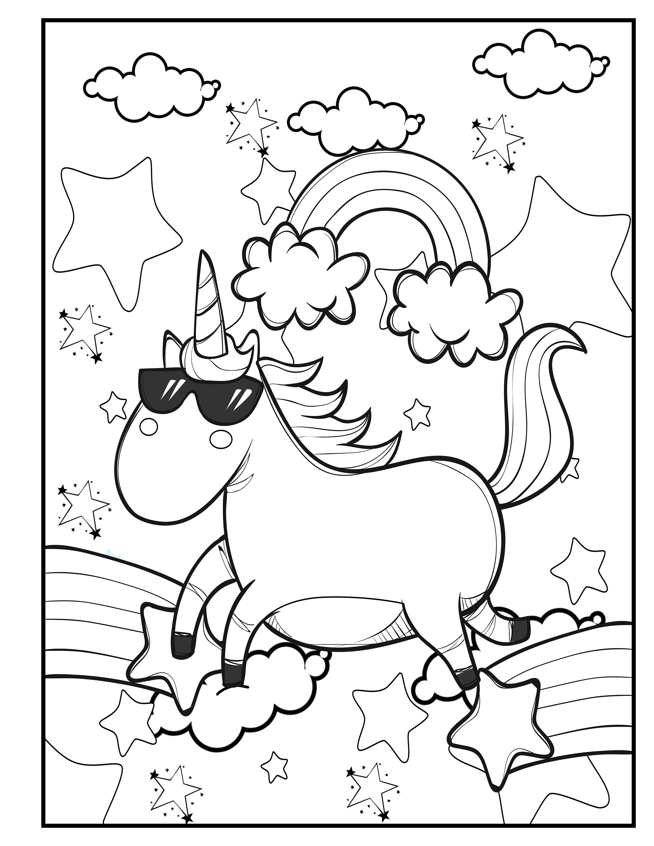 unicorn coloring pages for 9 year olds set 1 10 unicorn coloring pages printable unicorn etsy year pages coloring olds unicorn for 9