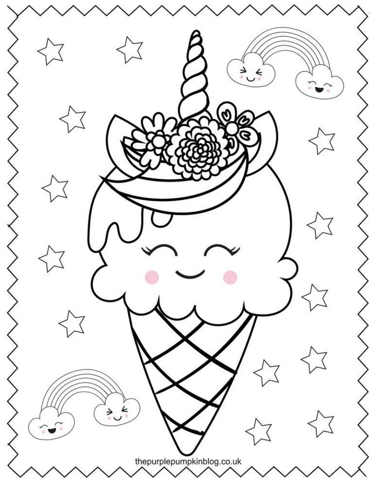 unicorn ice cream coloring pages pin on unicorn coloring page unicorn pages coloring cream ice