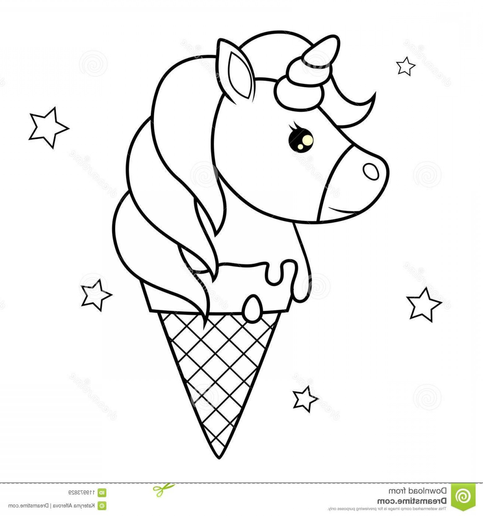 unicorn ice cream coloring pages unicorn black and white vector at vectorifiedcom ice coloring pages cream unicorn