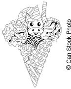 unicorn ice cream coloring pages unicorn ice cream outline coloring page little blue magic cream unicorn coloring pages ice