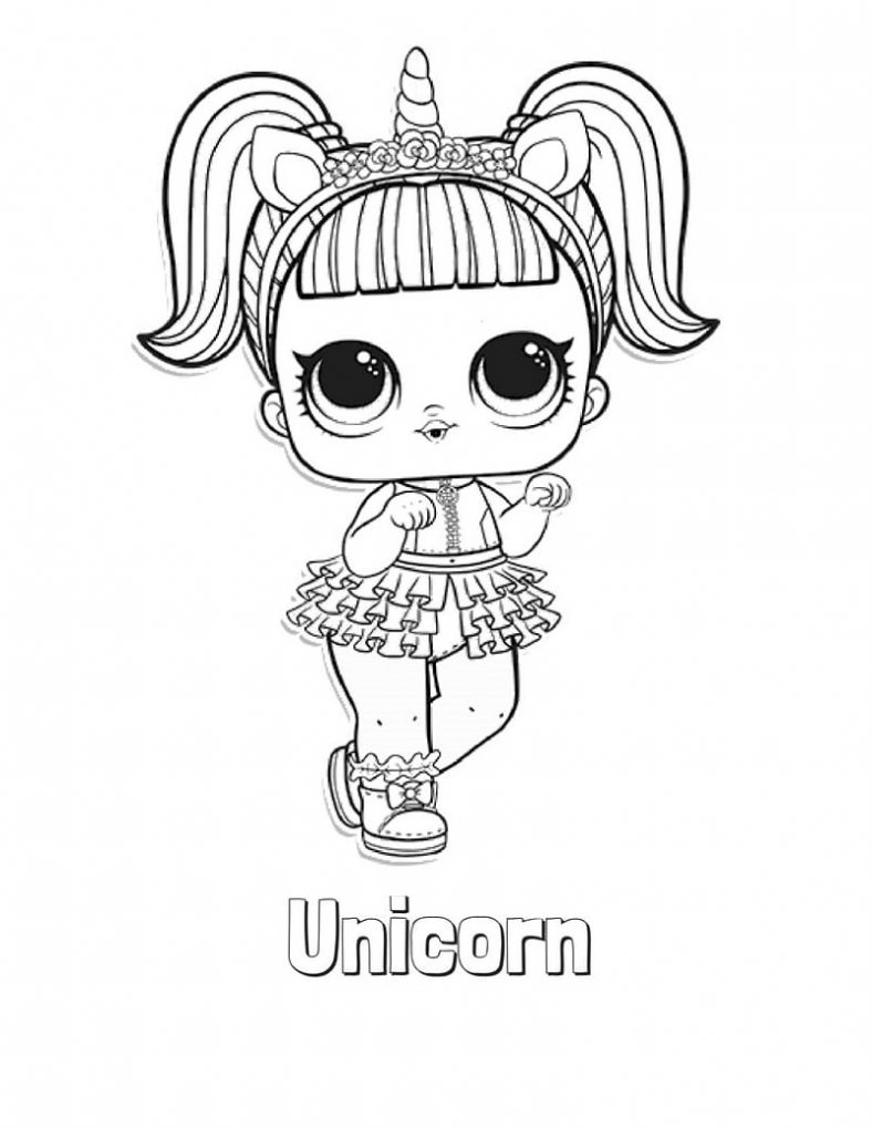 unicorn lol doll coloring page 24 lol surprise doll coloring pages printable in 2020 unicorn lol doll page coloring
