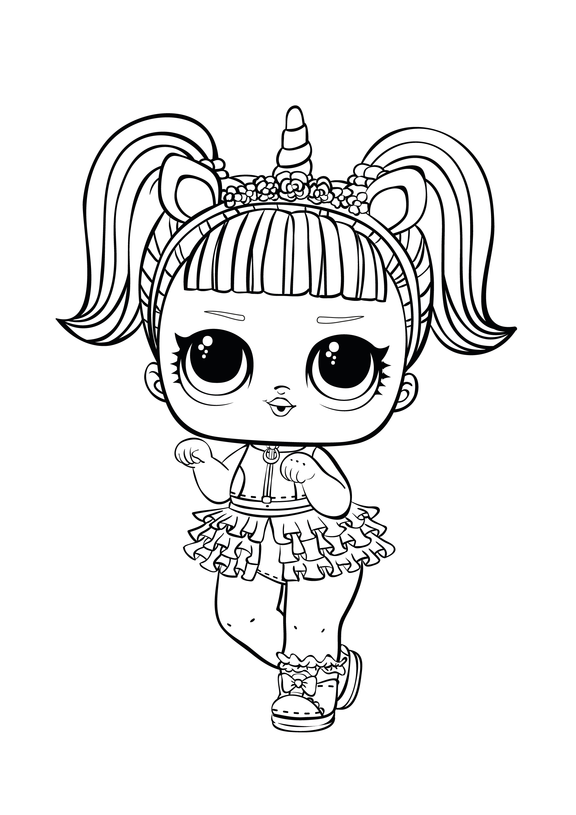 unicorn lol doll coloring page 25 inspiration image of pet coloring pages unicorn unicorn lol doll coloring page