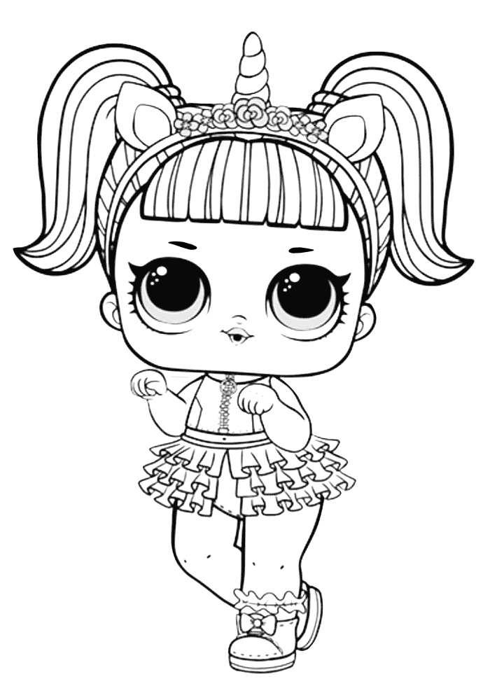 unicorn lol doll coloring page lol doll coloring page best of can do baby lol surprise coloring unicorn lol page doll