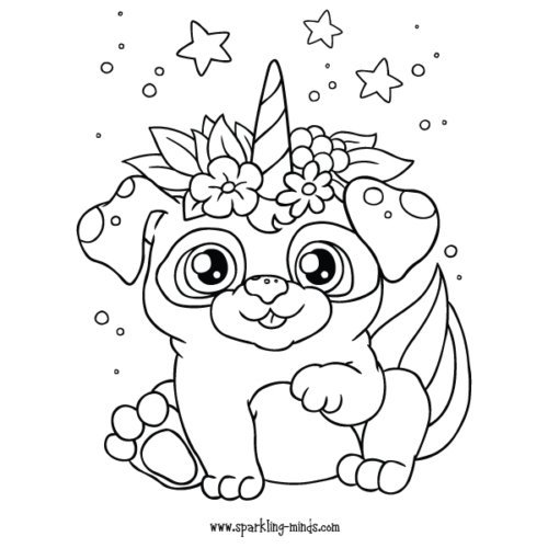 unicorn puppy coloring pages free instant download pug unicorn coloring pages coloring unicorn pages puppy coloring