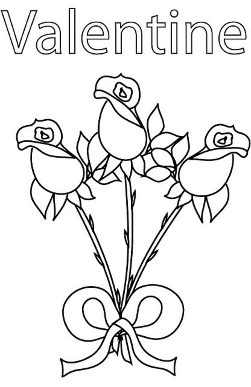 valentines day coloring pages free printable flower coloring pages part 3 free pages day valentines printable coloring
