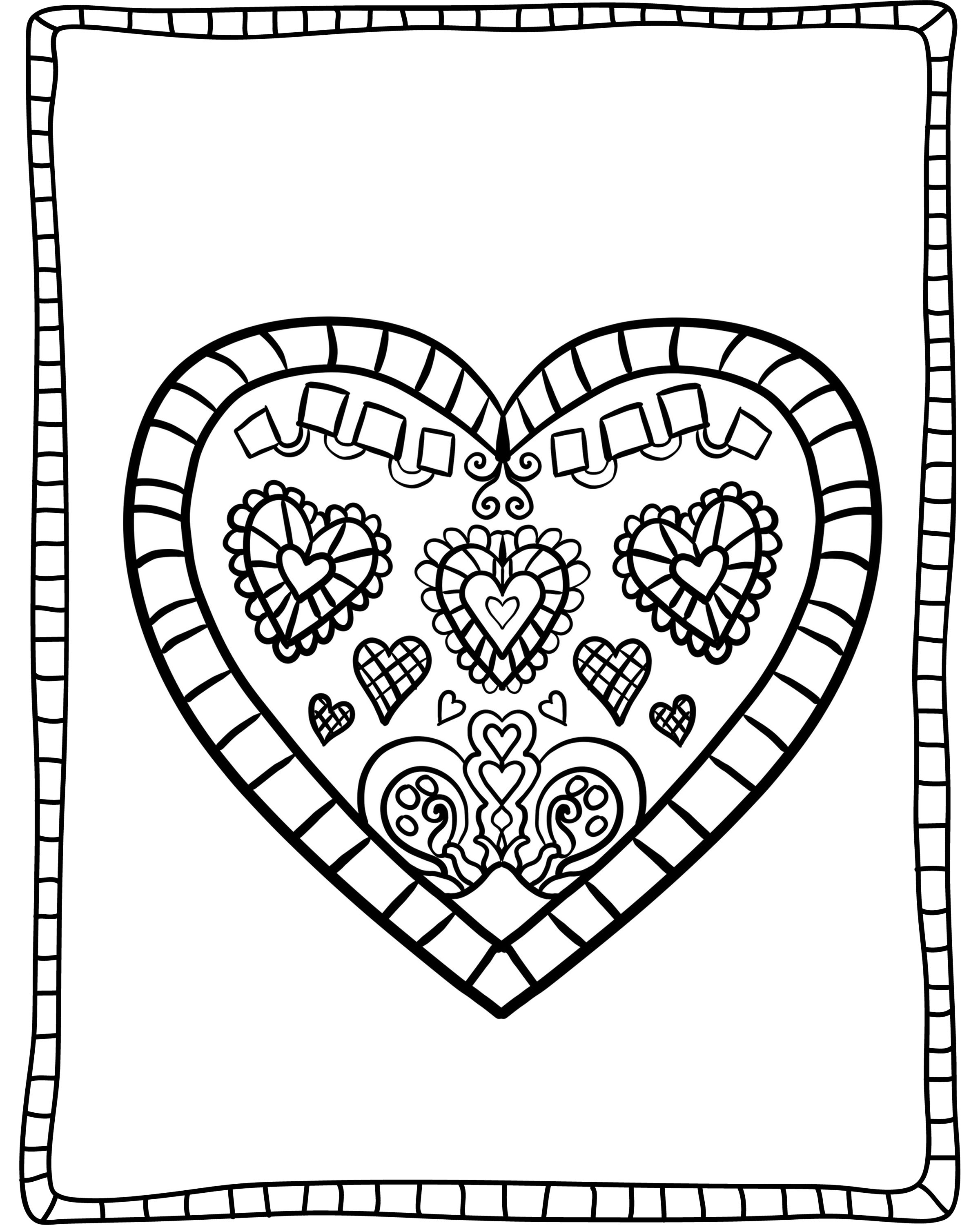 valentines heart coloring pages easy heart coloring pages for kids stripe patterns valentines heart coloring pages