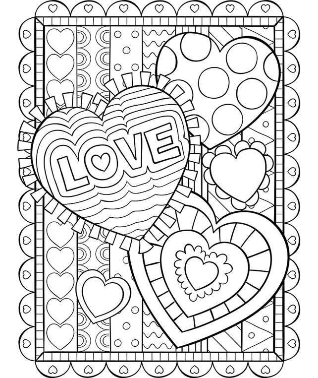 valentines heart coloring pages valentine39s hearts in hearts crayolaca coloring valentines pages heart